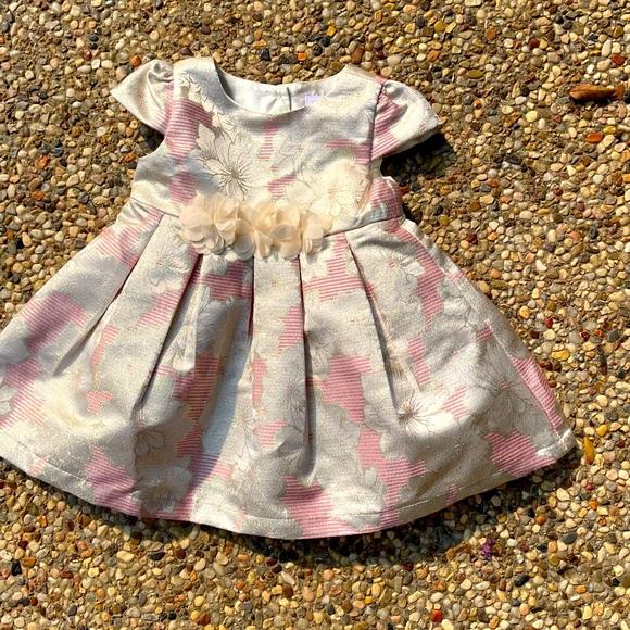 Pink & Ivory Dress, size 9-12 months
